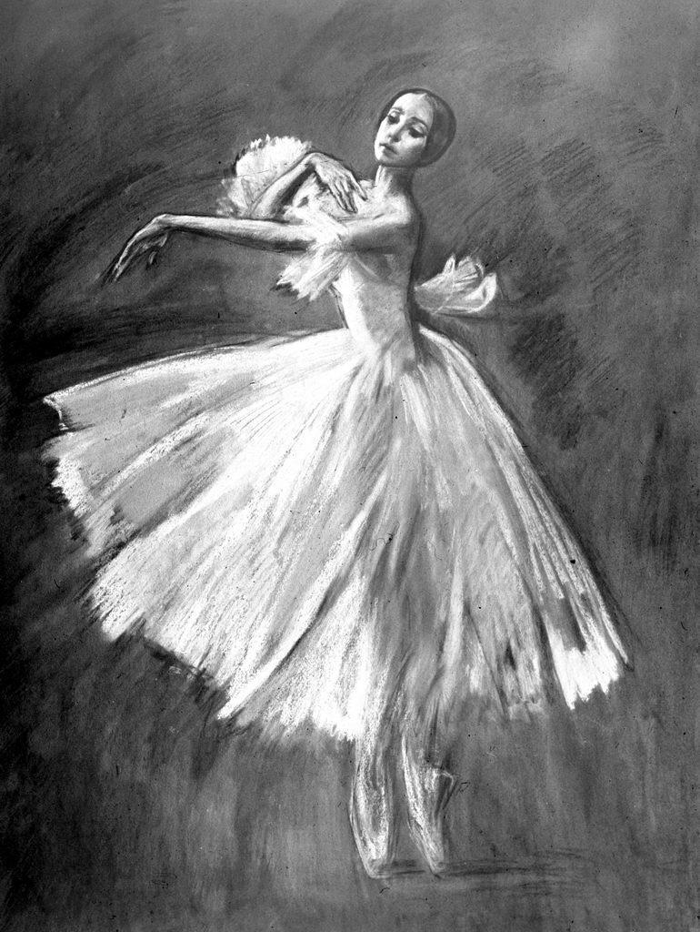 графические картинки балерин вид